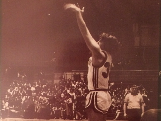David Essel Playing Basketball for Syracuse in 1974
