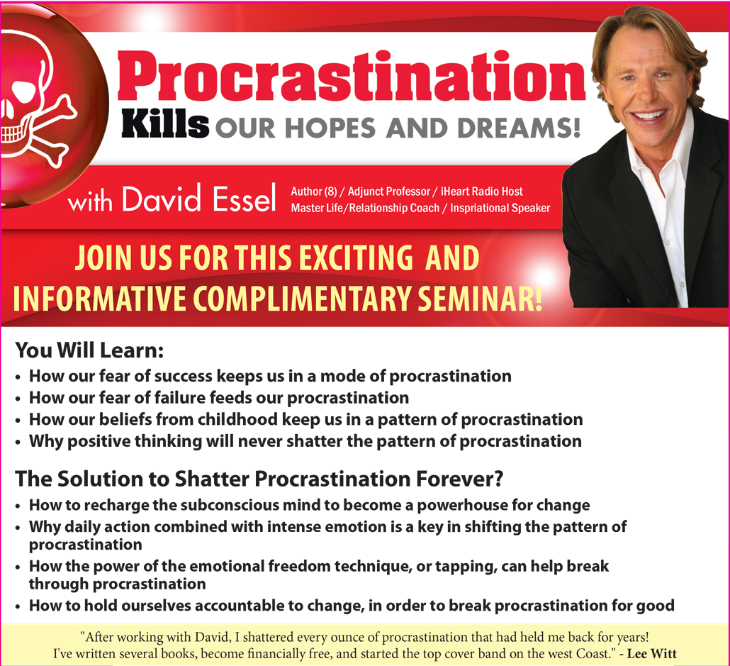 Procrastination is the Killer of Hopes & Dreams | Work with David Essel