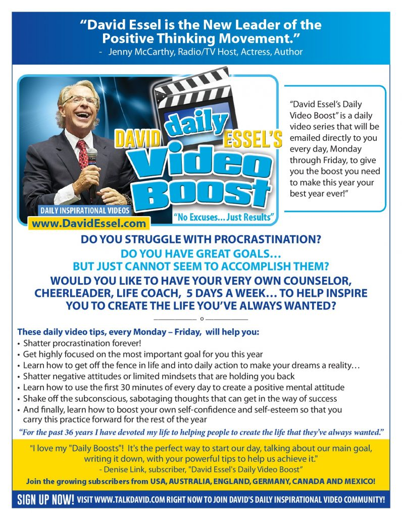 David Essel's Daily Video Boost